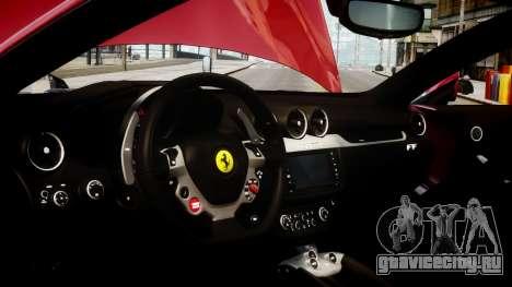 Ferrari FF 2011 v1.5 для GTA 4 вид сзади