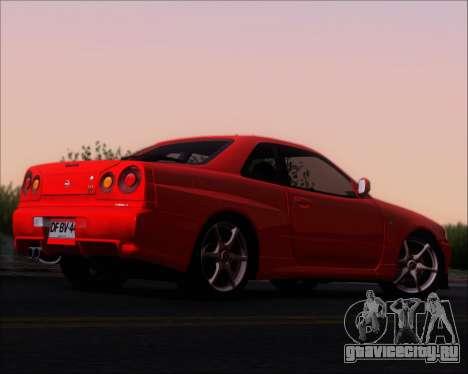 Nissan Skyline GT-R R34 V-Spec II для GTA San Andreas вид справа