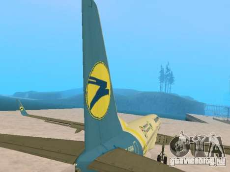 Boeing 737-84R Ukraine International Airlines для GTA San Andreas вид сверху