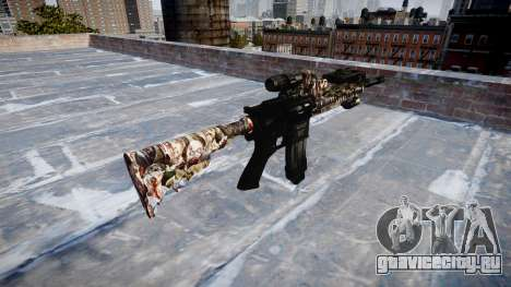 Автоматический карабин Colt M4A1 zombies для GTA 4 второй скриншот