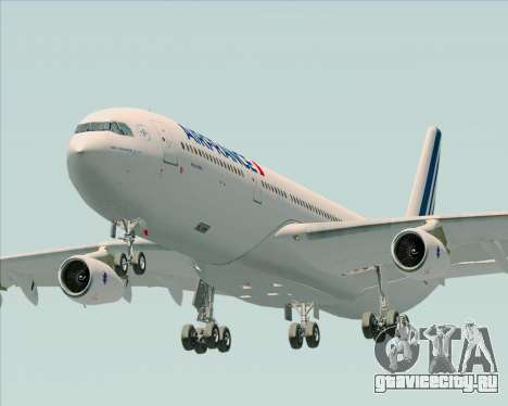 Airbus A340-313 Air France (New Livery) для GTA San Andreas вид сзади