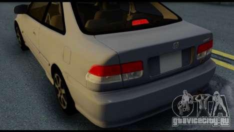 Honda Civic Si 1999 для GTA San Andreas вид сверху