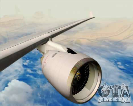 Airbus A330-200 American Airlines для GTA San Andreas двигатель