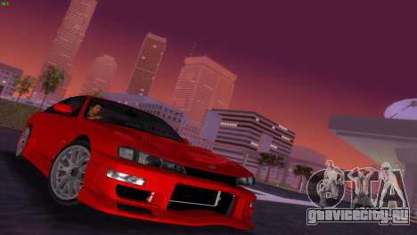 Nissan Silvia S14 RB26DETT Black Revel для GTA Vice City вид изнутри