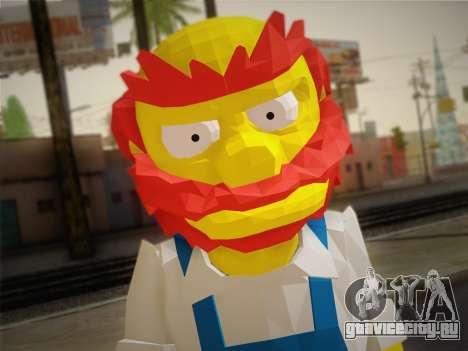 Садовник Вилли (The Simpsons: Road Rage) для GTA San Andreas третий скриншот