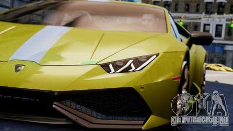 Lamborghini Huracan LP610-2 Valentino Balboni для GTA 4 вид сзади