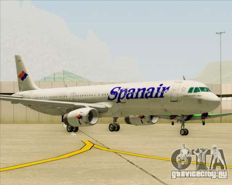 Airbus A321-231 Spanair для GTA San Andreas вид слева