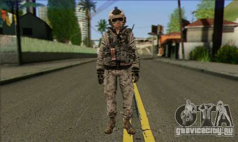 Task Force 141 (CoD: MW 2) Skin 5 для GTA San Andreas