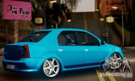 Dacia Logan 1.6 для GTA San Andreas вид слева