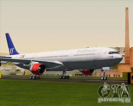 Airbus A330-300 Scandinavian Airlines System. для GTA San Andreas вид слева