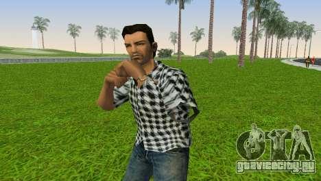 Kockas polo - fekete T-Shirt для GTA Vice City второй скриншот