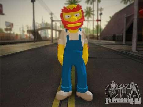 Садовник Вилли (The Simpsons: Road Rage) для GTA San Andreas