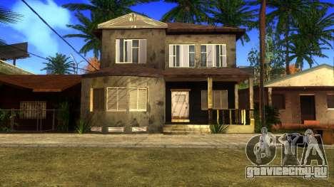 Новые HD текстуры домов на Гроув-стрит v2 для GTA San Andreas восьмой скриншот