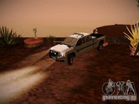 Chevrolet Silverado 2500HD Public Works Truck для GTA San Andreas вид сзади