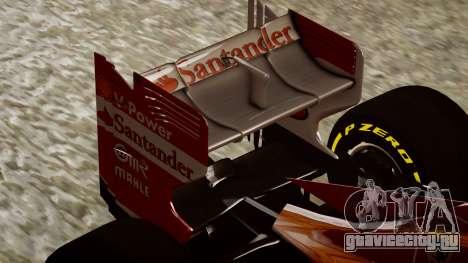 Ferrari F138 v2 для GTA 4 вид сбоку