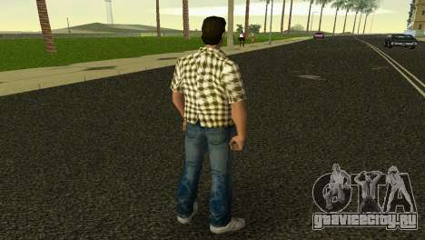 Kockas polo - citrom sarga T-Shirt для GTA Vice City третий скриншот