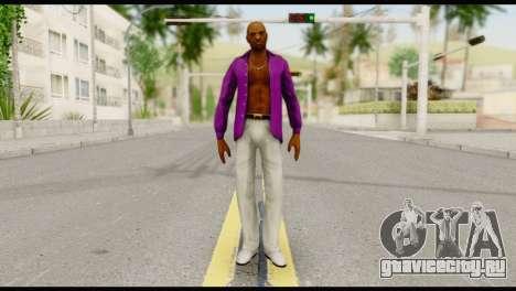 Purple Shirt Vic для GTA San Andreas