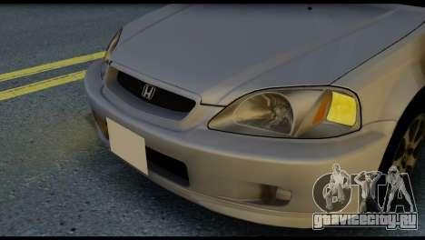 Honda Civic Si 1999 для GTA San Andreas вид сзади