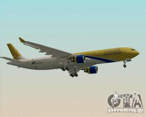 Airbus A330-300 Gulf Air для GTA San Andreas вид сзади