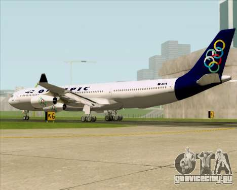 Airbus A340-313 Olympic Airlines для GTA San Andreas вид справа