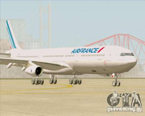 Airbus A340-313 Air France (New Livery) для GTA San Andreas вид слева