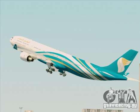 Airbus A330-300 Oman Air для GTA San Andreas салон