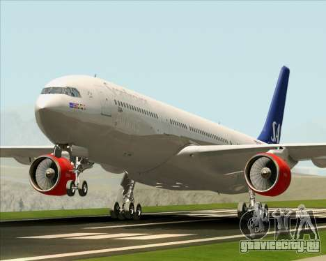 Airbus A330-300 Scandinavian Airlines System. для GTA San Andreas