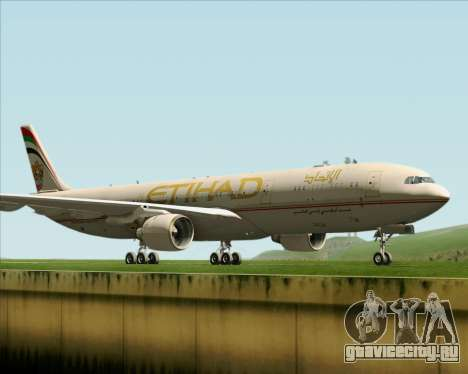 Airbus A330-300 Etihad Airways для GTA San Andreas вид слева
