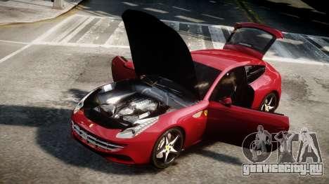 Ferrari FF 2011 v1.5 для GTA 4 вид сзади слева