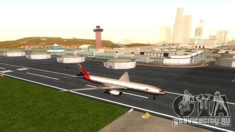 Boeing 777-280ER Asiana Airlines для GTA San Andreas вид изнутри