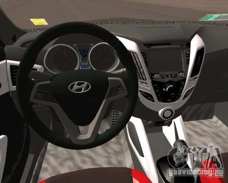 Hyundai Veloster 2013 для GTA San Andreas вид сзади