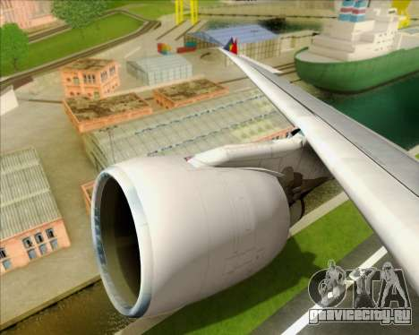 Airbus A330-300 Philippine Airlines для GTA San Andreas вид снизу