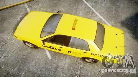 GTA V Vapid Taxi NYC для GTA 4 вид справа