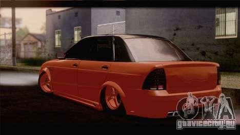 Lada 2170 Priora Апельсин для GTA San Andreas вид слева