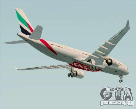 Airbus A330-300 Emirates для GTA San Andreas вид сверху