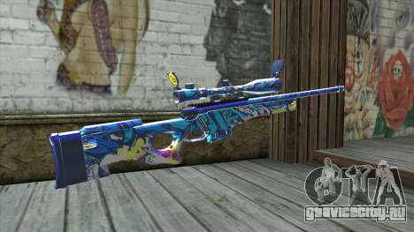 Graffiti Sniper Rifle v2 для GTA San Andreas второй скриншот