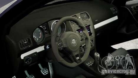 Volkswagen Golf R 2010 Polo WRC Style PJ2 для GTA 4 вид изнутри