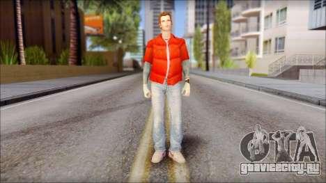 Marty with Vest 1985 для GTA San Andreas