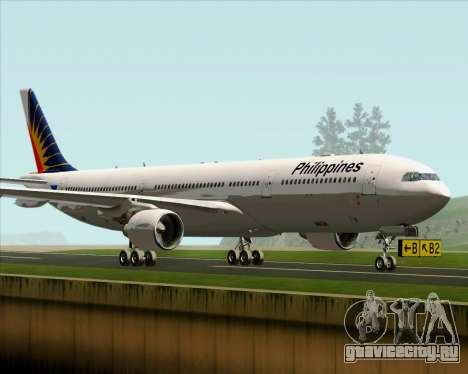 Airbus A330-300 Philippine Airlines для GTA San Andreas вид слева