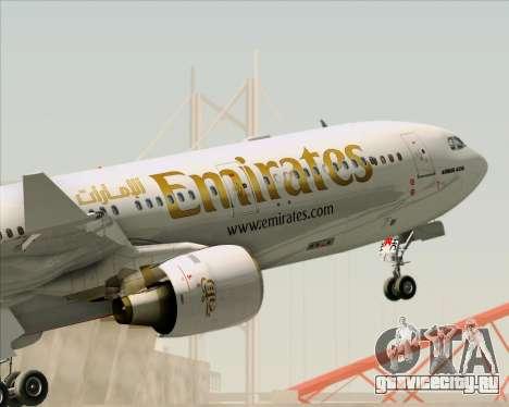 Airbus A330-300 Emirates для GTA San Andreas колёса