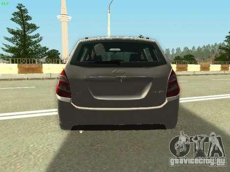 Lada Kalina 2 Универсал для GTA San Andreas вид изнутри