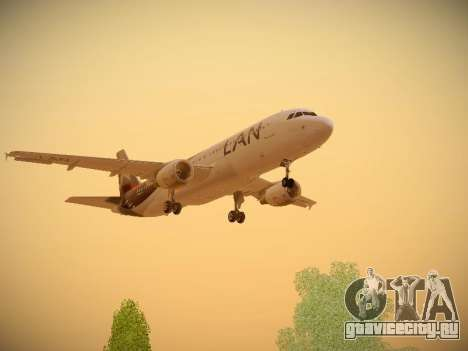Airbus A320-214 LAN Airlines для GTA San Andreas вид сверху