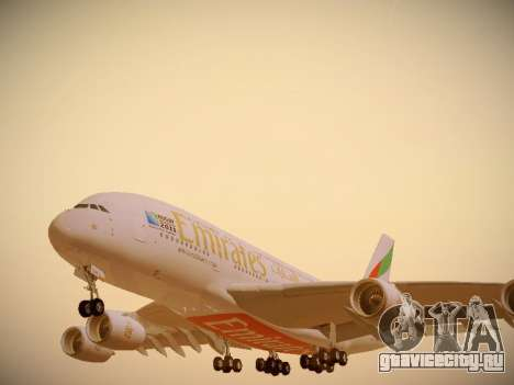Airbus A380-800 Emirates Rugby World Cup для GTA San Andreas колёса