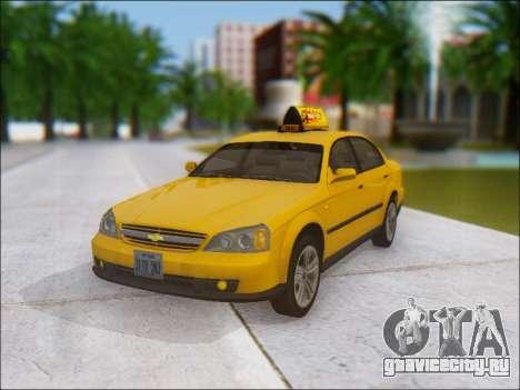 Chevrolet Evanda Taxi для GTA San Andreas