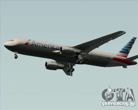 Boeing 767-323ER American Airlines для GTA San Andreas вид сзади слева