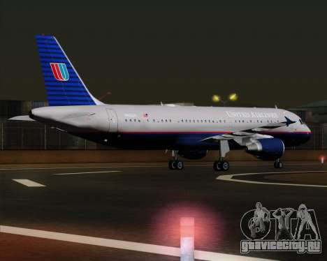 Airbus A320-232 United Airlines (Old Livery) для GTA San Andreas вид справа
