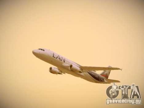 Airbus A320-214 LAN Airlines для GTA San Andreas вид сбоку