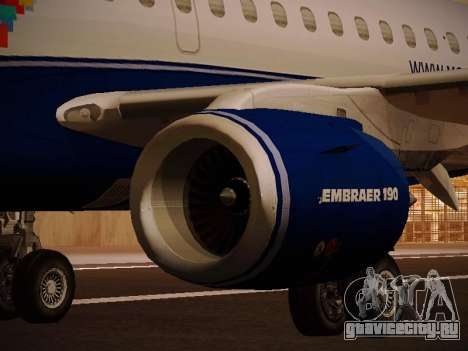 Embraer E190 Azul Brazilian Airlines для GTA San Andreas двигатель