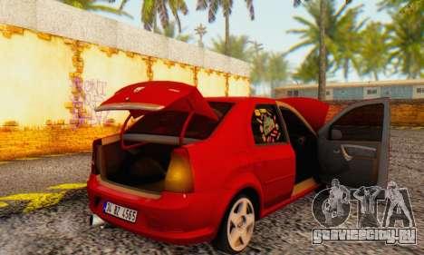 Dacia Logan Delta Garage для GTA San Andreas вид сбоку