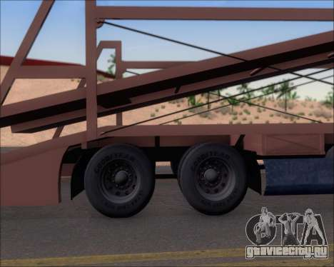 Navistar International 9700 1997 для GTA San Andreas вид изнутри